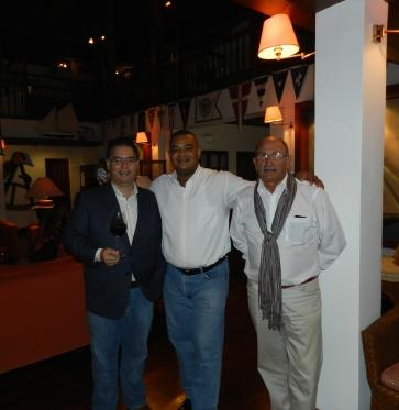 Raúl Rodriguez Flaquier, Joselo Rodriguez y Gianfranco Fini