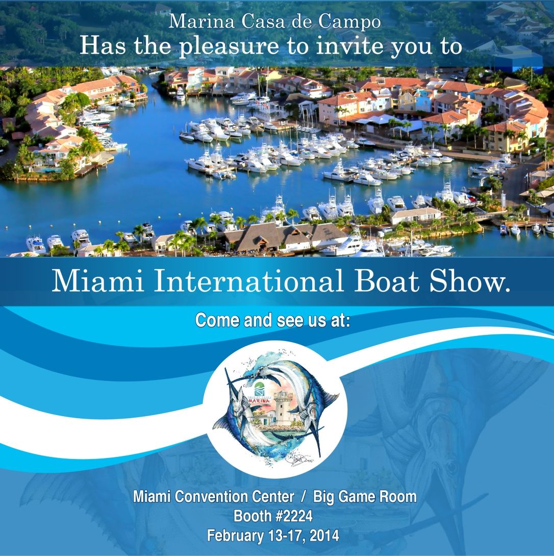 Invitación al Miami International Boat Show. (MIBS)