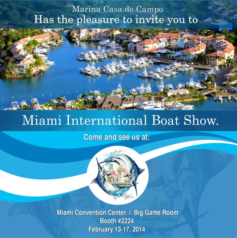 Invitación al Miami International Boat Show. (MIBS)