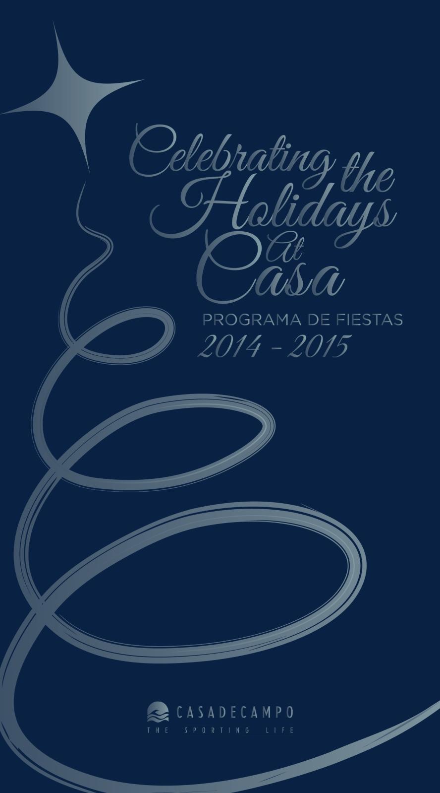 CASA DE CAMPO_holiday program 2014-01