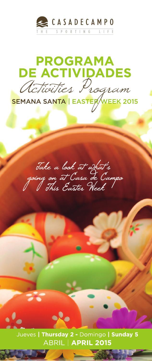 Casa de Campo – Programa de Actividades Semana Santa 2015