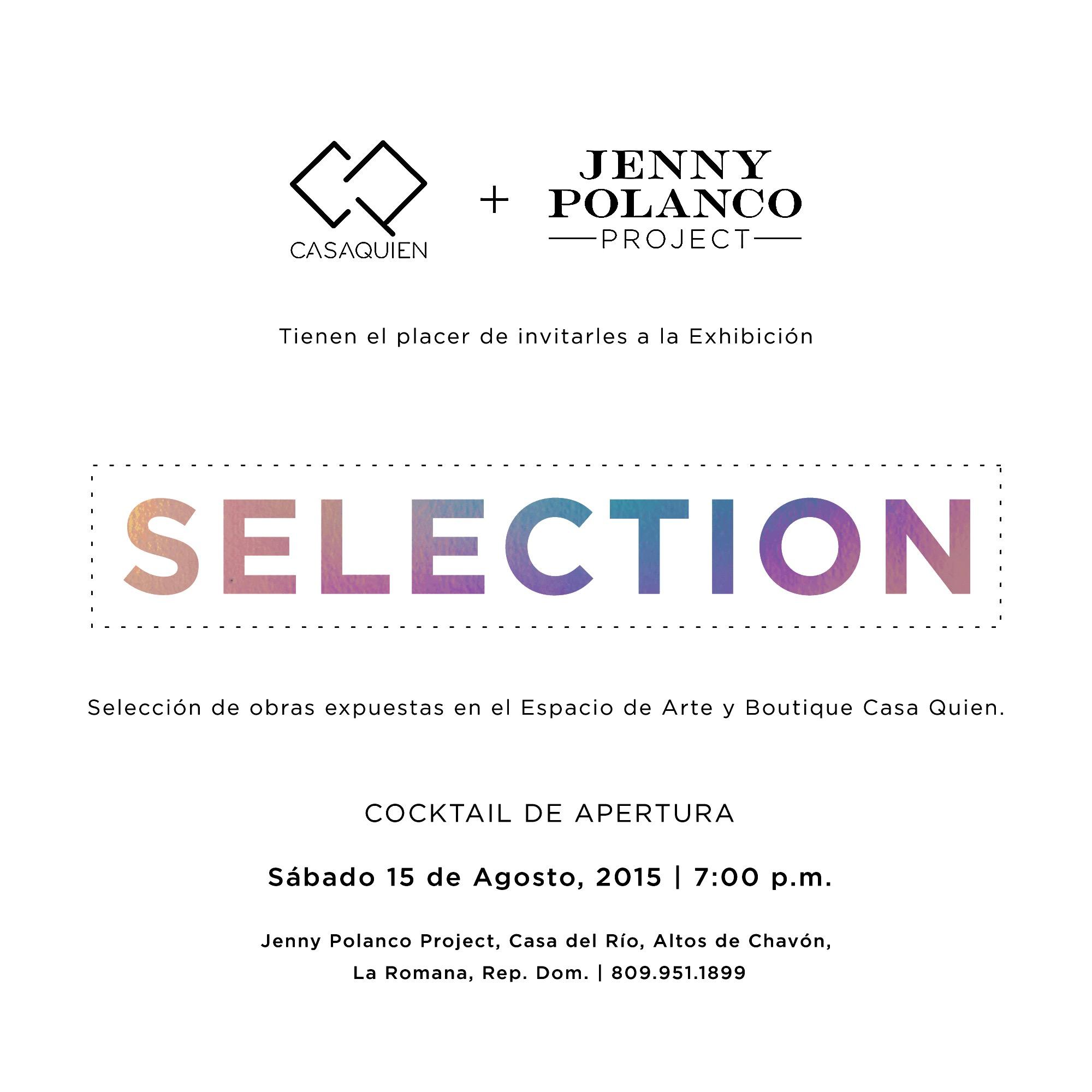Selection. By Jenny Polanco